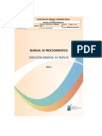 Manual de Procesos Ministerio Del Trabajo