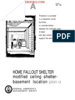 1980 FEMA HOME FALLOUT SHELTER Modified Ceiling Shelter Basement Location a 8p