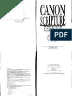 FF Bruce - The Canon of Scripture