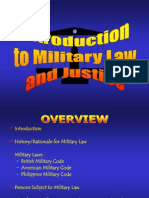 Introduction to Military Law and Justice System by Cpt Estep