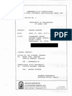 Graham Spanier grand jury  testimony from April 13, 2011