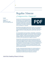 Regalias Mineras(