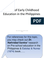 Pre-School History in the Philippines 2013
