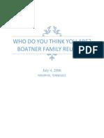 boatner family reunion letter
