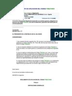 Reglamento de Aplicacion Del Codigo Tributario