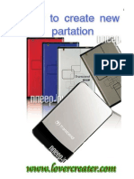 How to Create New Partition in External Hard Disk
