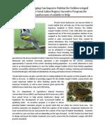 Golden winged warbler habitat assistance program