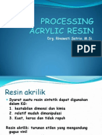Processing Acrylic Resin