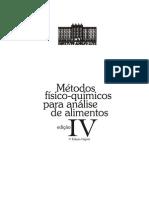 Métodos físico-químicos para análise de alimentos - Ed. 4