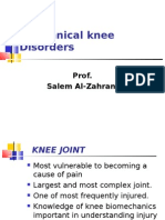 Mechanical Knee Disorders