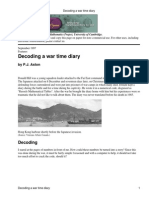 Decoding a War Time Diary