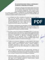 Nacionalidades, comunidades y pueblos de la Amazonía ecuatoriana