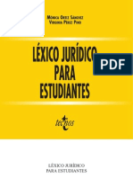 Diccionario - Lexico Juridico Para Estudiantes Editorial Tecnos