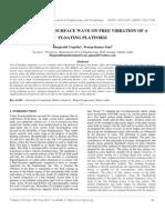 Ijret - Effect of Free Surface Wave on Free Vibration of a Floating Platform