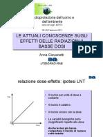 11 - GIOVANETTI - Le Attuali Conoscenze Sugli Effetti Delle Radiazioni a Basse Dosi