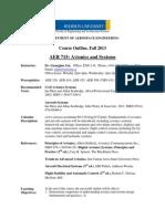 AER715 Outline F13 v0