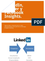 LinkedIn, Twitter y FB Insights