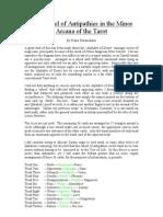 Wheel of Antipathies in the Minor Arcana of the Tarot