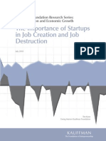 Importance of Start-Ups in Job Creation and Destruction