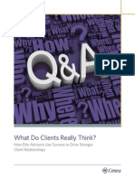 What Clients Really Think