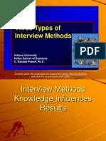 Three Types of Interview Methods