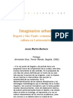 Imaginarios urbanos. Bogotá y Sao Pablo (Prólogo)