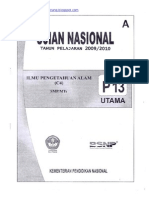 Naskah Soal UN IPA SMP 2010 (Paket 13)