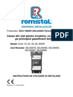 Cazanorlan18-80 Manual Tehnic Orlan-utilizare Si Instalare