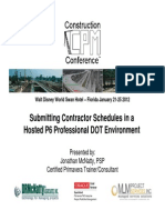DRM Jan 2012 CPM Conference-Submitting Contractor Schedules in a Hosted P6 Professional DOT Environment JMcNatty-1