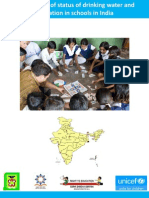 An Overview of Status of Drinking Water and Sanitation in Schools in India