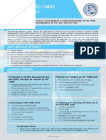 ISO 13485 Lead Auditor Two Page Brochure