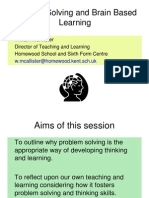 Problem Solving and Brain Based Learning