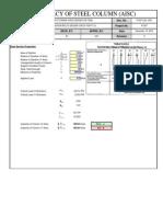 Steel Column Capacity Checks