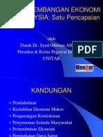 Perkembangan Ekonomi Malaysia Sem[1][1]. Pendakwah Negara 6 Ogos 02