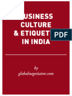 INDIA BUSINESS ETIQUETTE AND PROTOCOL GUIDE