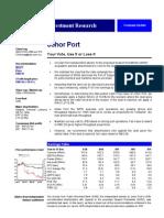 Johor Port Berhad Valuation