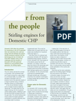 Power for the People Stirling Engines for Domestic CHP