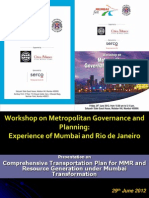 Transport Plan for MMR and Resourse Generation Plan Under Mumbai Transformation