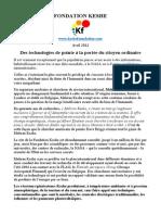 Fondation Keshe Evolutions Fondamentales en Matiere d Energie Et de Sante Avril 2012