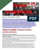 Noticias Uruguayas miércoles 18 de diciembre del 2013