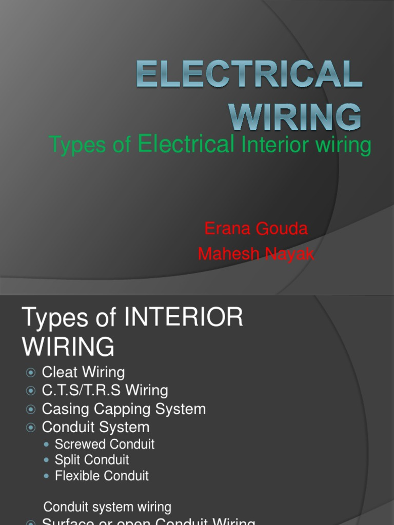 Types Of Interior Wiring  Electrical