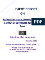 Inventory Management in Johnson Johnson