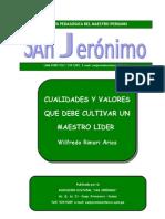 Cualidades y valores de un Maestro Líder Wilfredo Rimari