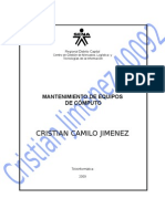 Mec40092evidencia02 Cristian Jimemez - Targeta de Red en Windows Xp
