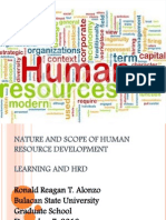 Nature an Scope of HRD