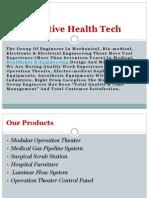 Hospital furniture &  Laminar flow system