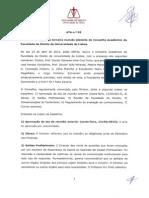 Acta n.º 63 do Conselho Académico da Faculdade de Direito da Universidade de Lisboa