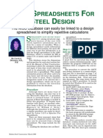 Using Spreadsheets for Steel Design