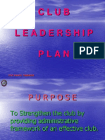 Club Leadership Plan
