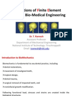 Applications of Finite Element Method in Bio-Medical Enginee